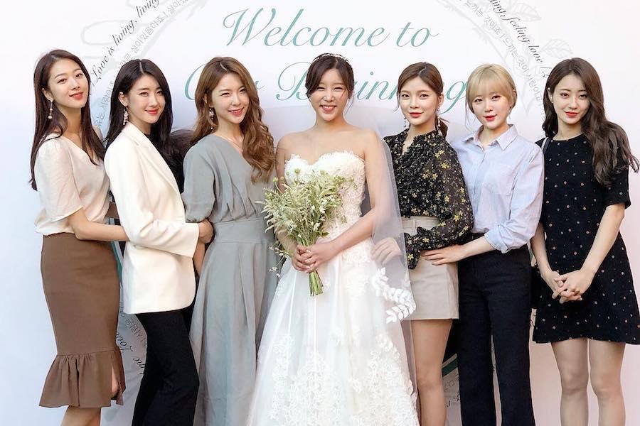 Las actuales y ex-integrantes de 9MUSES se reúnen para la boda de Sungah