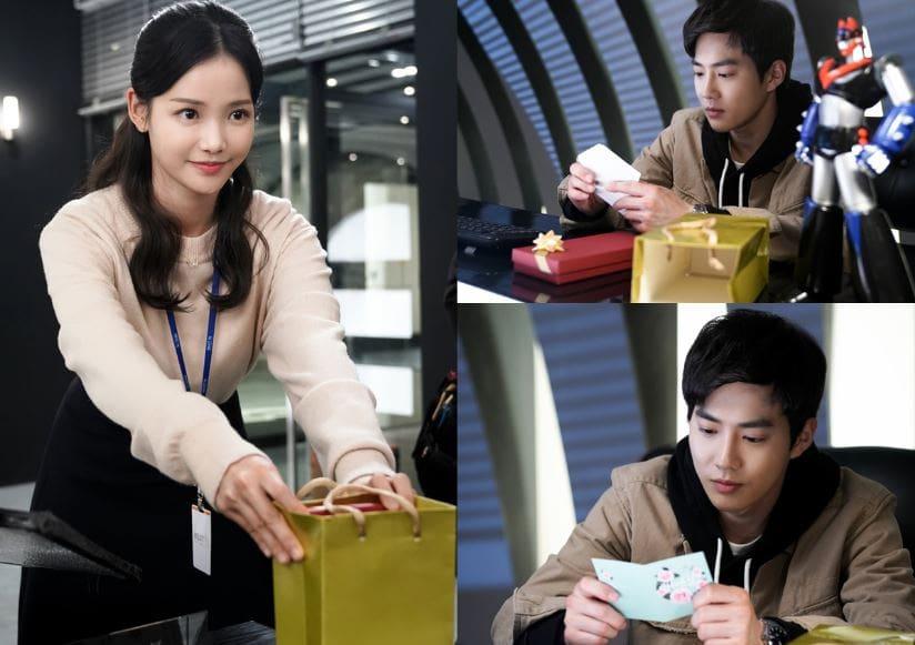 """Ha Yeon Soo le da a Suho de EXO un misterioso regalo en """"Rich Man, Poor Woman"""""""
