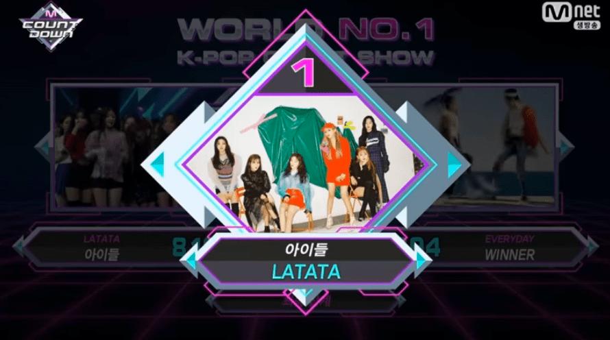 """(G)I-DLE obtiene segunda victoria para """"LATATA"""" en """"M!Countdown"""" – Presentaciones de Lovelyz, VICTON, DreamCatcher y más"""