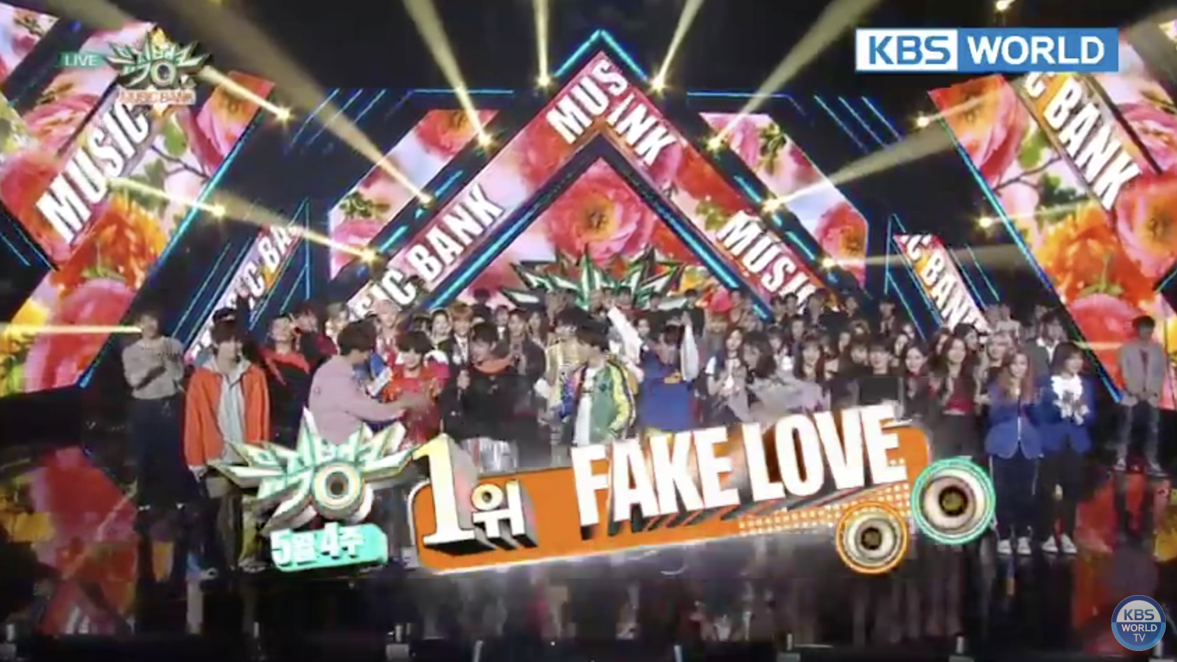 "BTS consigue su primera victoria con ""Fake Love"" en ""Music Bank"""