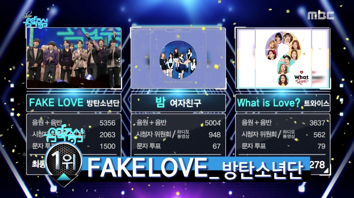 "BTS logra su 2ª victoria con ""Fake Love"" en ""Music Core"". Actuaciones de VICTON, The East Light y Khan, entre otros"