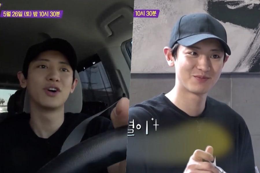 """[Actualizado] Chanyeol de EXO se divierte conduciendo y comiendo en Los Ángeles para """"Salty Tour"""""""