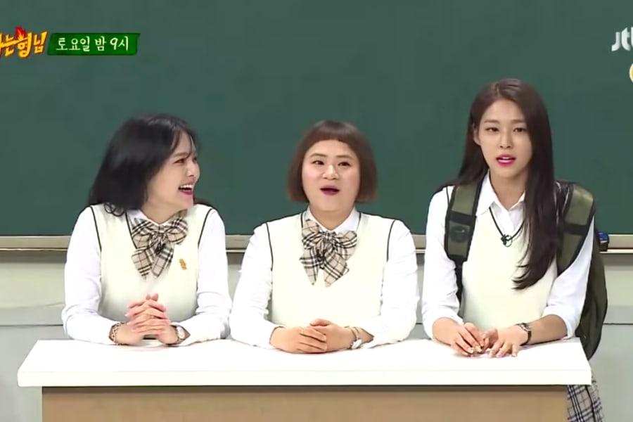 """Jimin y Seolhyun de AOA aparecen con Kim Shin Young en el previo de """"Ask Us Anything"""""""
