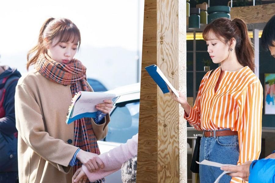 "Lee Sung Kyung no se separa de su guión en detrás de cámaras de ""About Time"""