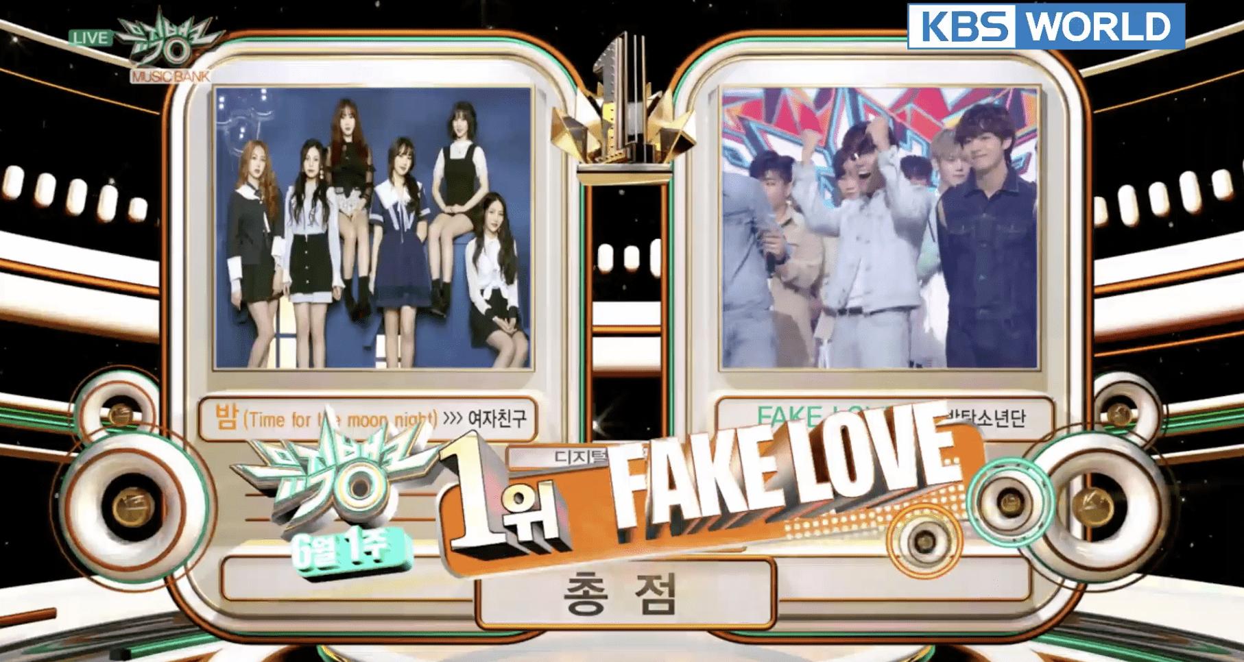 """BTS logra su 6ª victoria con """"Fake Love"""" en """"Music Bank"""""""