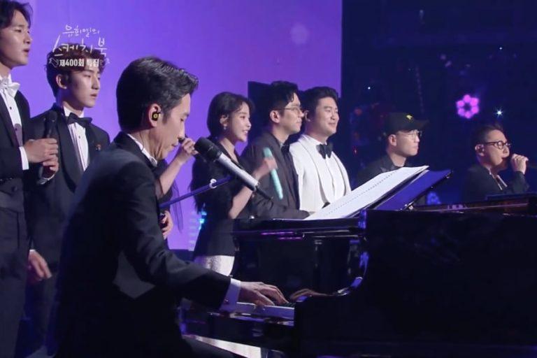 """IU y otros artistas actúan en el episodio especial número 400 de """"Yoo Hee Yeol's Sketchbook"""""""
