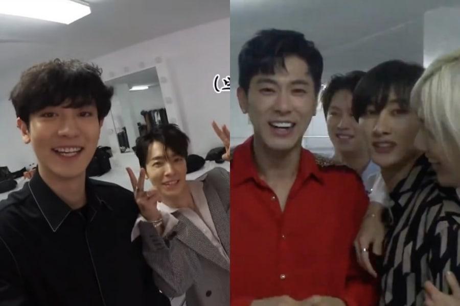 Super Junior llevan su energía divertida a Dubai mientras se divierten con sus compañeros de SM entre bastidores