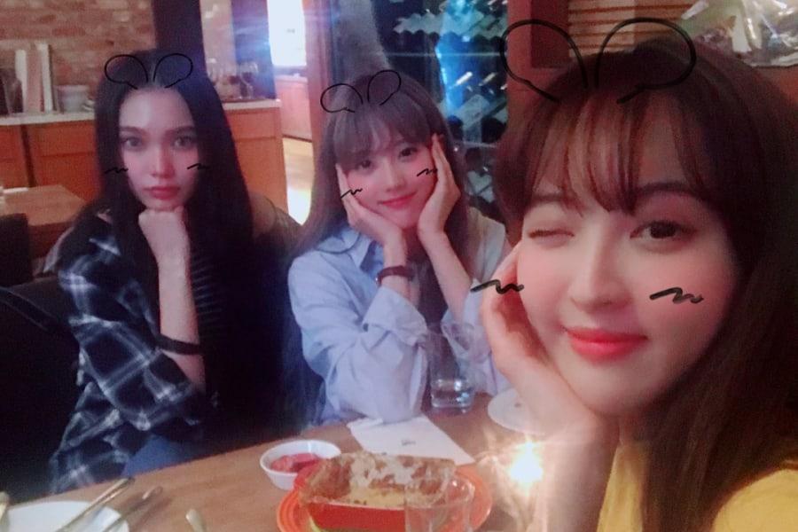 """Jung Hye Sung, Luda de WJSN y Hansel se reúnen fuera de """"Dunia"""""""