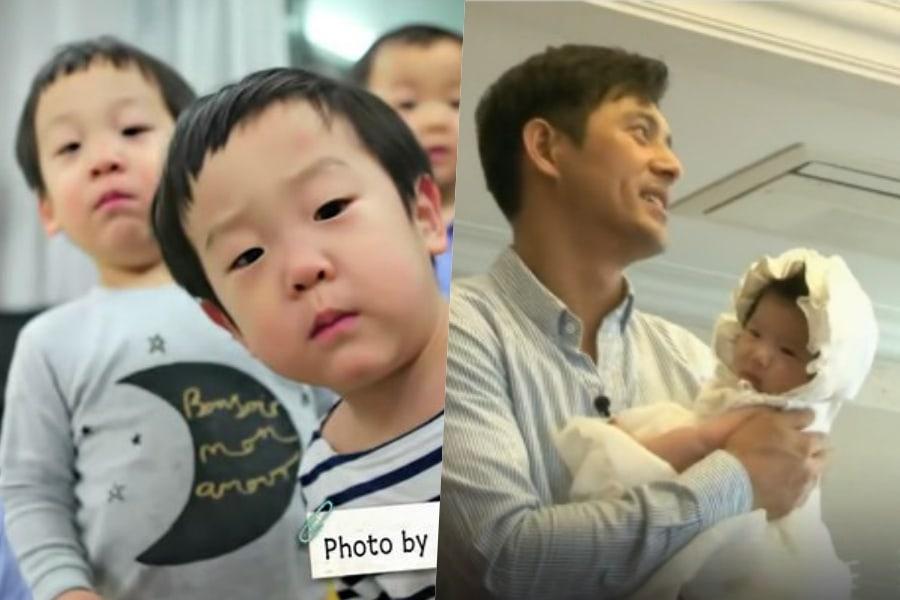 """Los gemelos de Lee Hwi Jae y la hija de Oh Ji Ho han crecido mucho desde """"The Return Of Superman"""""""