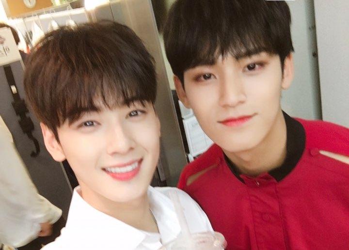 Cha Eun Woo de ASTRO y Mingyu de SEVENTEEN muestran su amistad