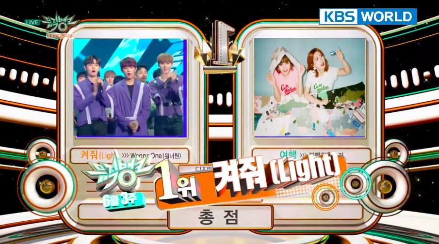 """Wanna One consigue su cuarta victoria con """"Light"""" en """"Music Bank"""" y actuaciones de SHINee, AOA, Yubin y más"""