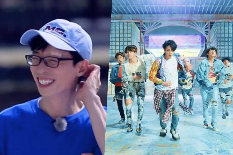 """Yoo Jae Suk se lastima al bailar """"Fake Love"""" de BTS en """"Running Man"""""""