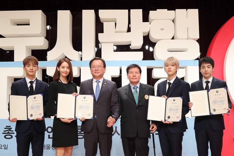 EXO-CBX y YoonA de Girls' Generation son nombrados embajadores de seguridad