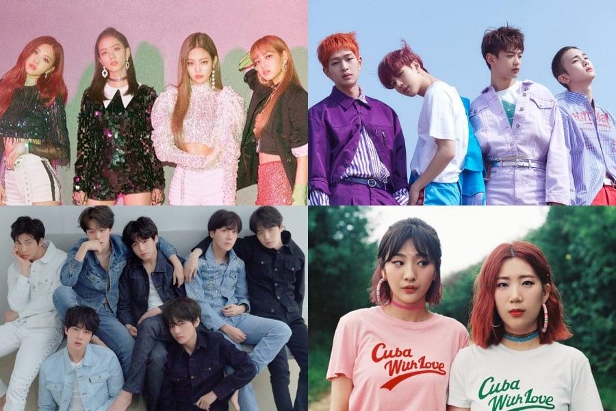 BLACKPINK, SHINee, BTS y Bolbbalgan4 encabezan las listas semanales de Gaon