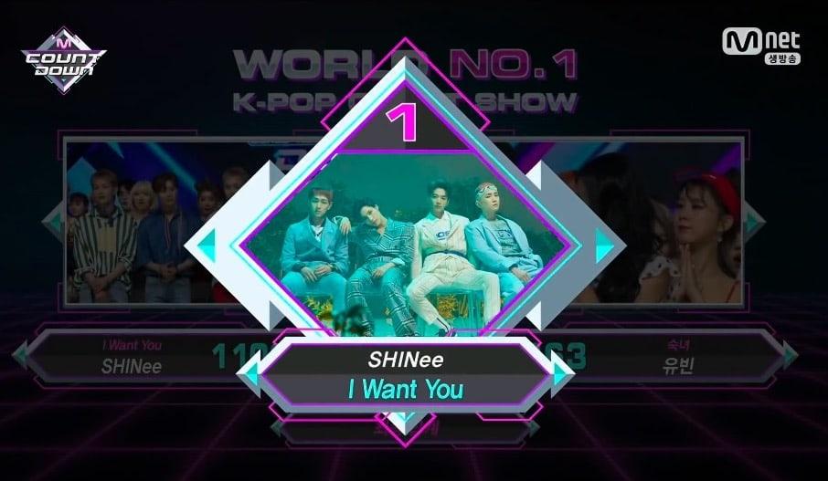 """SHINee obtiene primera victoria para """"I Want You"""" en """"M!Countdown"""" – Presentaciones de Yubin, BTOB y más"""