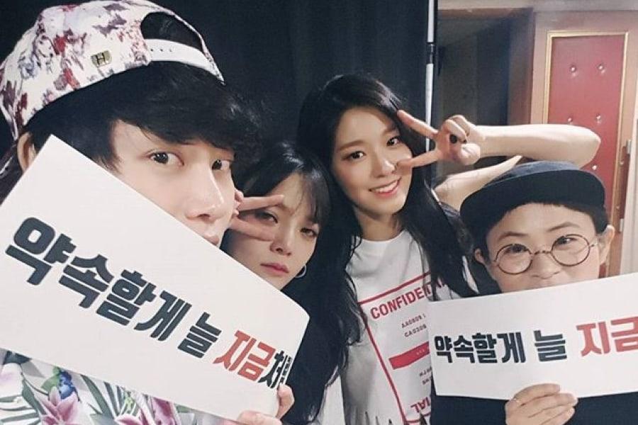 Jimin de AOA habla de sus mejores amigos Kim Heechul, Seolhyun y Kim Shin Young