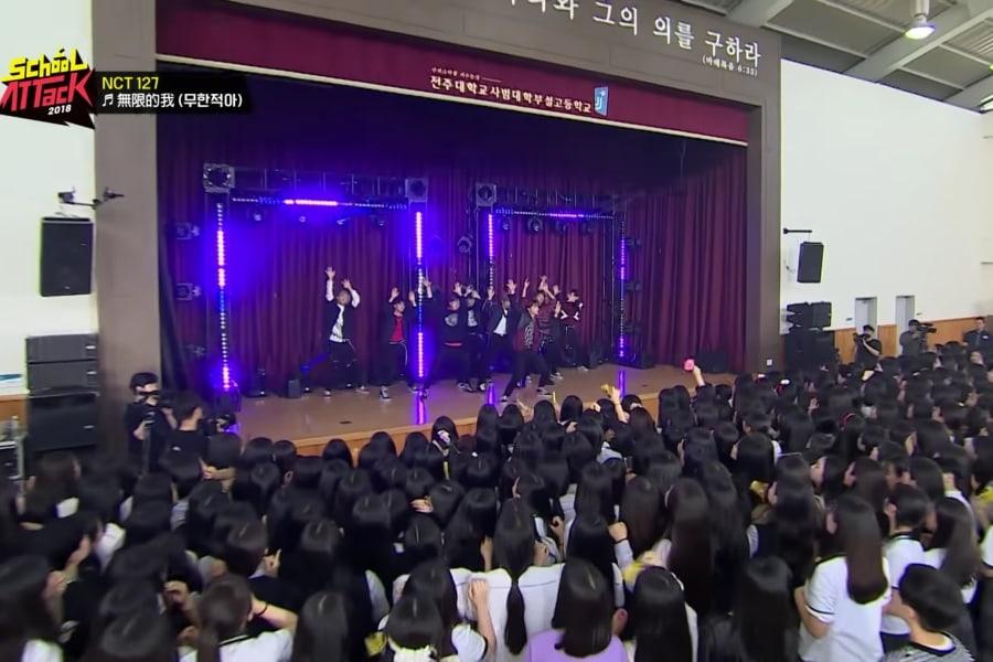 """NCT 127 sorprende exitosamente a estudiantes en """"School Attack 2018"""""""