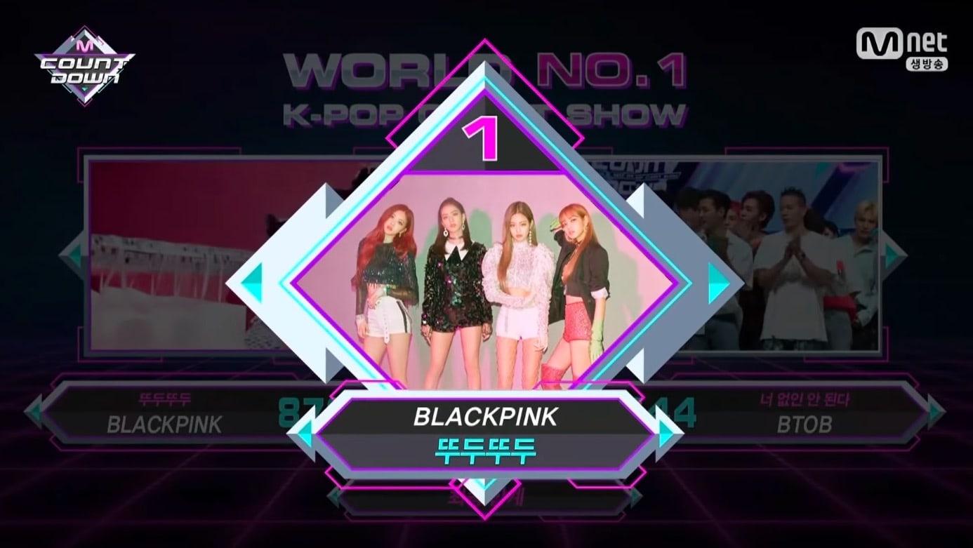 """BLACKPINK consigue su tercera victoria con """"DDU-DU DDU-DU"""" en """"M!Countdown"""" actuaciones de SHINee, BTOB y más"""
