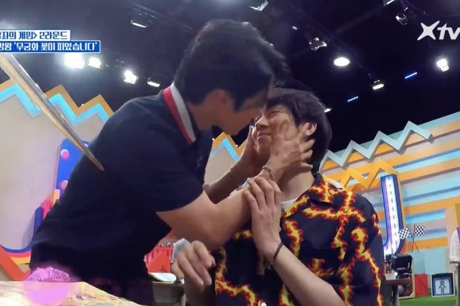 """Heechul y Donghae de Super Junior comparten un beso en """"Super TV 2"""""""