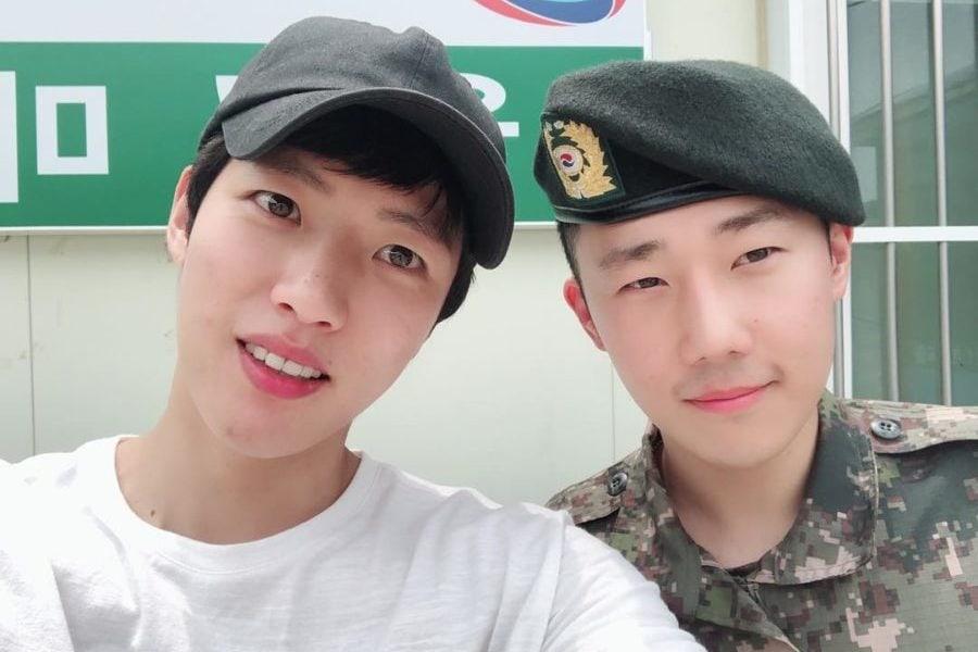 Sungyeol de INFINITE visita a Sunggyu en el ejército