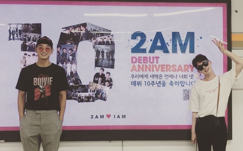 Jeong Jinwoon y Jo Kwon celebran juntos el décimo aniversario de 2AM