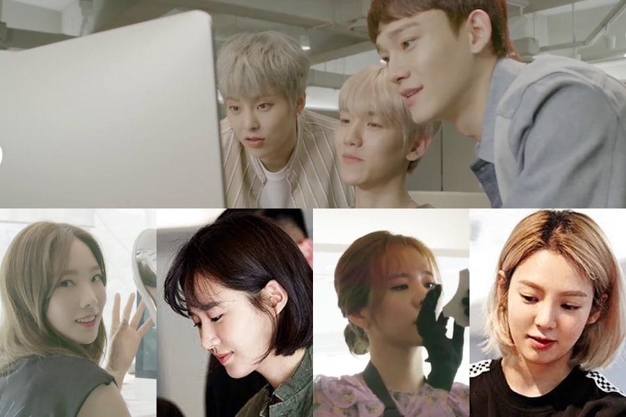 EXO-CBX y miembros de Girls' Generation colaboran con una marca de zapatos de Singapur
