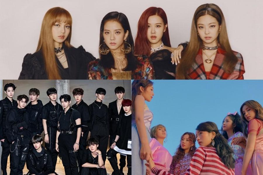 BLACKPINK, Wanna One, Apink, y otros logran los primeros puestos en las listas mensuales y semanales de Gaon