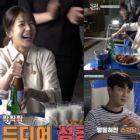 """Baek Jin Hee rocía a Yoon Doo Joon y a su equipo con cerveza realizando una escena complicada para """"Let's Eat 3"""""""