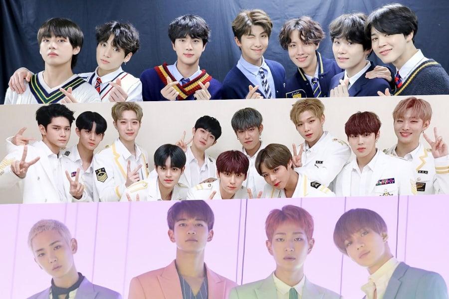Se revela el ranking de reputación de marca de los grupos masculinos del mes de julio