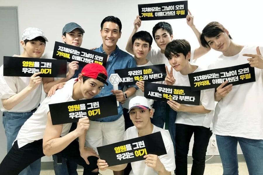 Artistas de SM y otras estrellas animan a EXO en su concierto