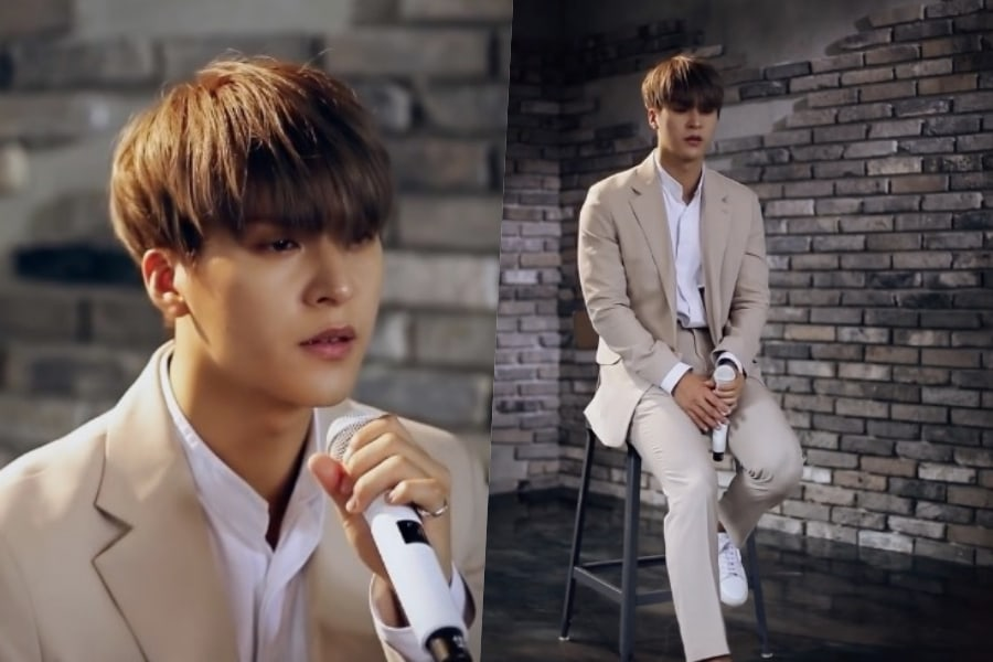 "Son Dongwoon de Highlight canta la hermosa balada ""There's No Eternity"" de su primer sencillo"
