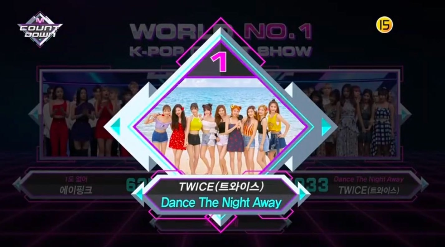 "TWICE logra su 2ª victoria por ""Dance The Night Away"" en ""M!Countdown"". Actuaciones de SEVENTEEN, MAMAMOO y más"