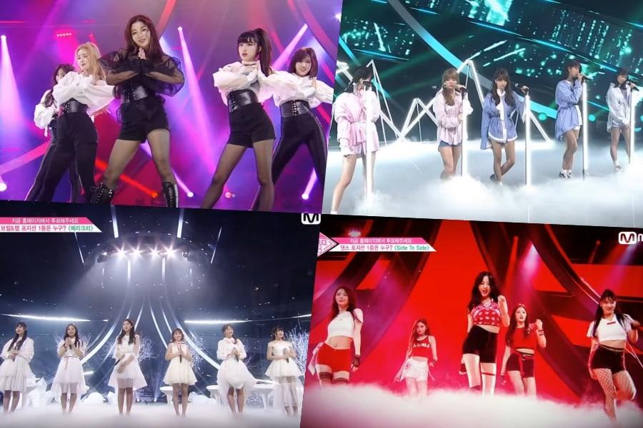 """""""Producir 48"""" inicia la batalla de posiciones con interpretaciones de Wanna One, BoA, y más; Clasificaciones parciales reveladas"""