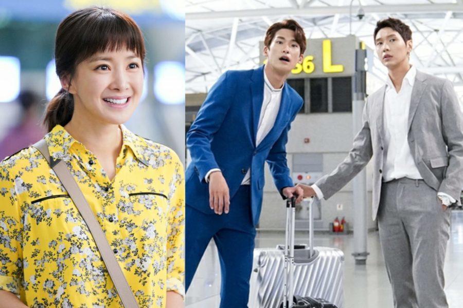 """Ji Hyun Woo y Kim Jin Yeop tienen reacciones opuestas al encontrarse con Lee Si Young en """"Risky Romance"""""""