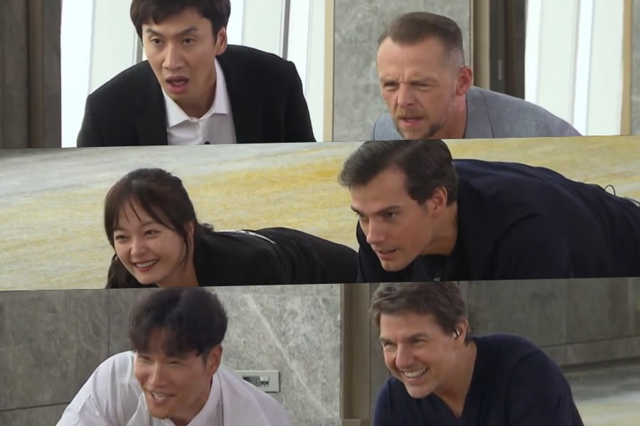 """Simon Pegg, Henry Cavill y Tom Cruise tratan de adivinar qué hay en la caja de """"Running Man"""""""