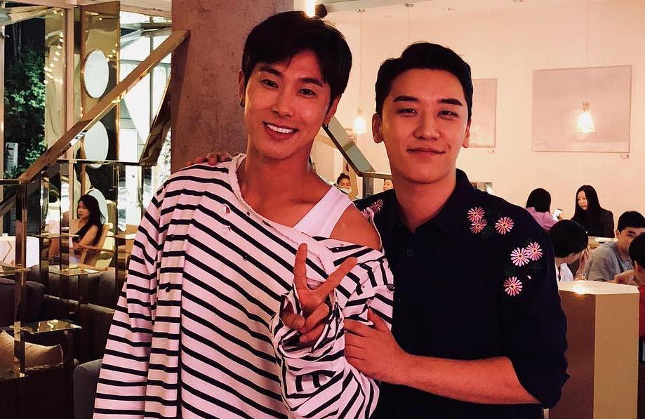 Seungri de BIGBANG comparte dulce foto de su encuentro con Yunho de TVXQ