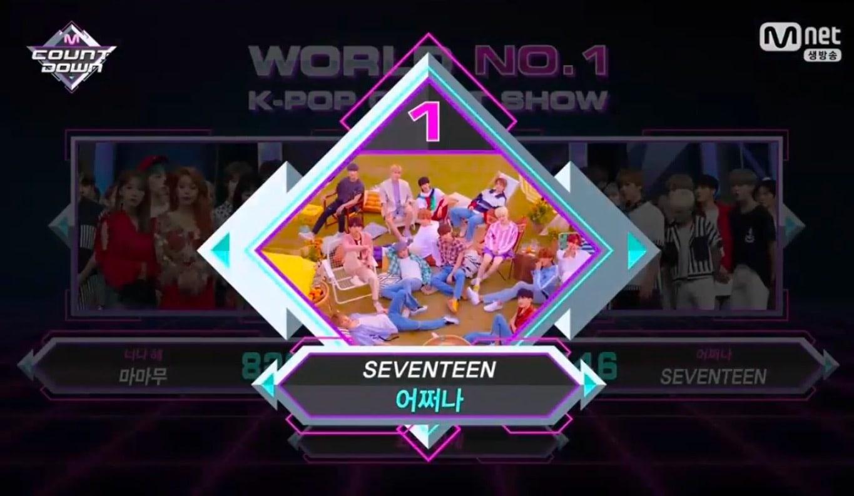 """SEVENTEEN obtiene segunda victoria para """"Oh My!"""" en """"M!Countdown"""" – Presentaciones de FTISLAND, MAMAMOO y más"""