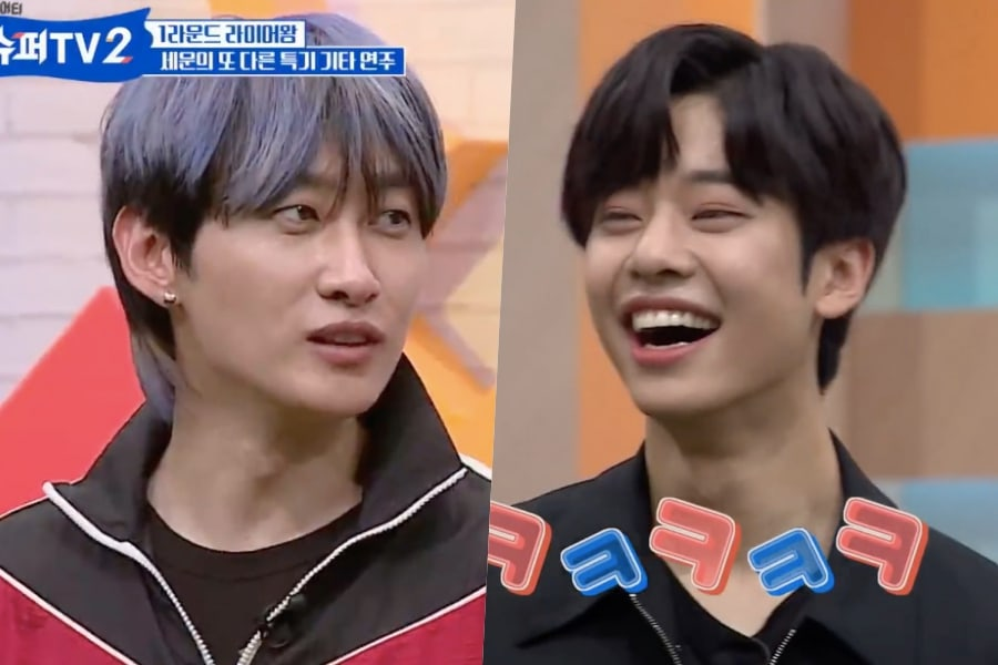 "Eunhyuk de Super Junior y Kim Dong Hyun de MXM intentan la línea icónica de Park Seo Joon de ""What's Wrong With Secretary Kim"""