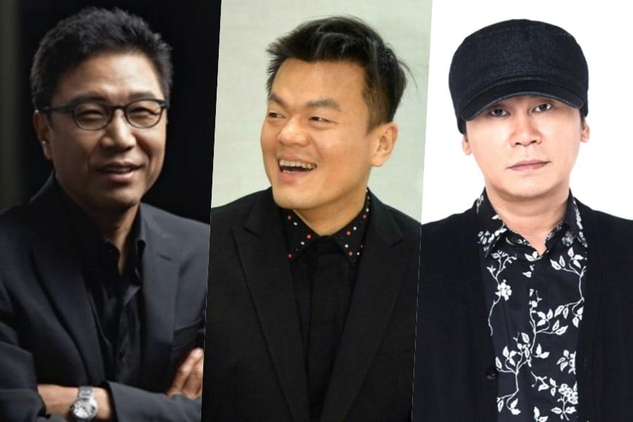 Los valores de las acciones de las compañías de Lee Soo Man, Park Jin Young y Yang Hyun Suk continúan mostrando un desempeño sólido