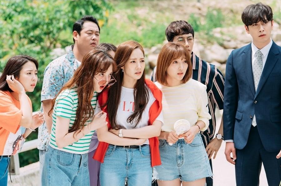 """Pyo Ye Jin comparte la reacción del elenco de """"What's Wrong With Secretary Kim"""" ante los rumores de citas de Park Seo Joon y Park Min Young"""