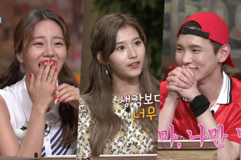 "Sana de TWICE se gana a Hyeri de Girl's Day y Key de SHINee con su aegyo en ""Amazing Saturday"""