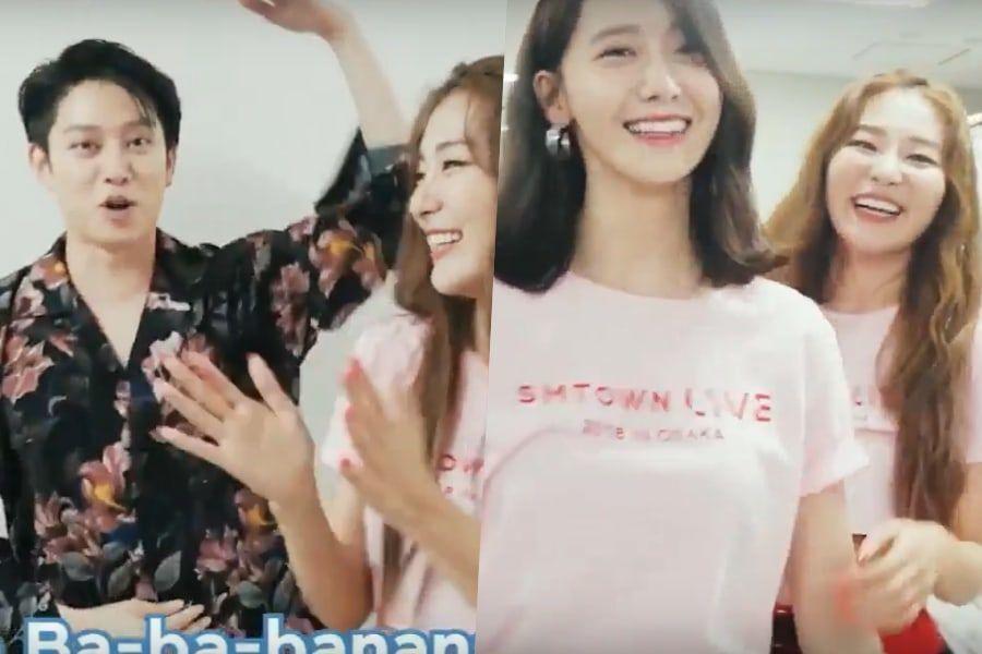 """[Actualizado] El baile de """"Power Up"""" de Red Velvet se vuelve una locura en los camerinos del SMTOWN"""