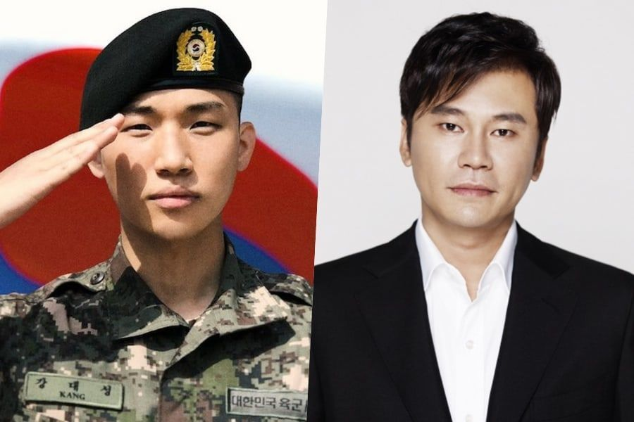 Daesung de BIGBANG se fotografía con Yang Hyun Suk durante su descanso del servicio militar