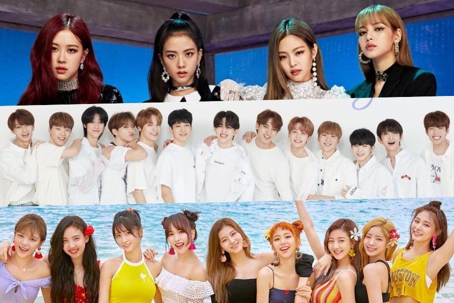 BLACKPINK, SEVENTEEN y TWICE encabezan los charts mensuales de Gaon