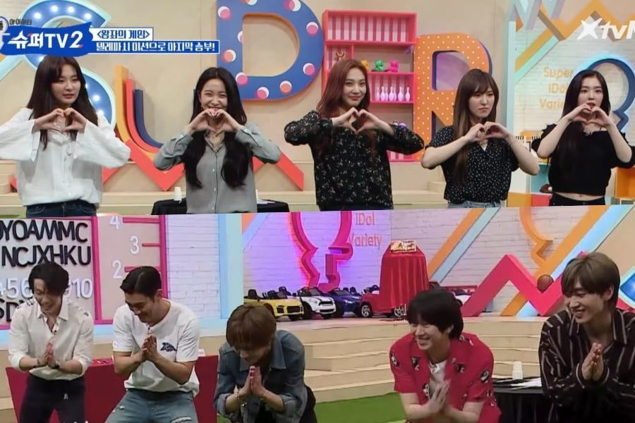 "Red Velvet se enfrenta cara a cara a Super Junior en ""Super TV 2"""