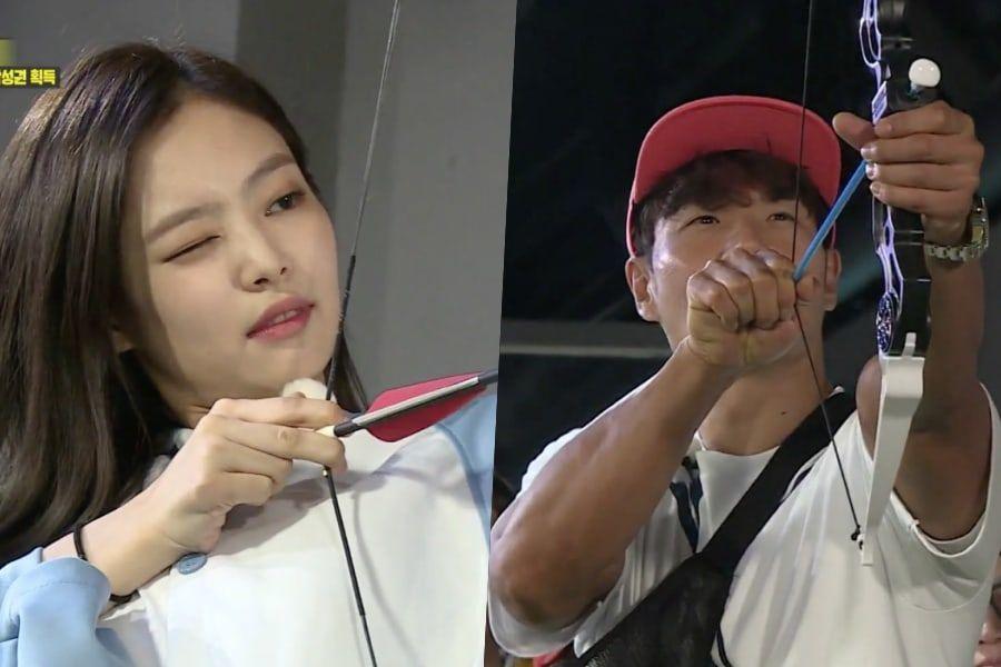 """Jennie de BLACKPINK se enfrenta a Kim Jong Kook en un juego de tiro con arco en """"Running Man"""""""