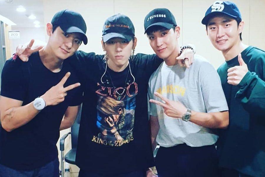 Chanyeol de EXO y Choi Tae Joon animan a Zico por su 1er concierto en solitario