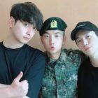 Chansung y Junho de 2PM se reúnen con Wooyoung en el ejército
