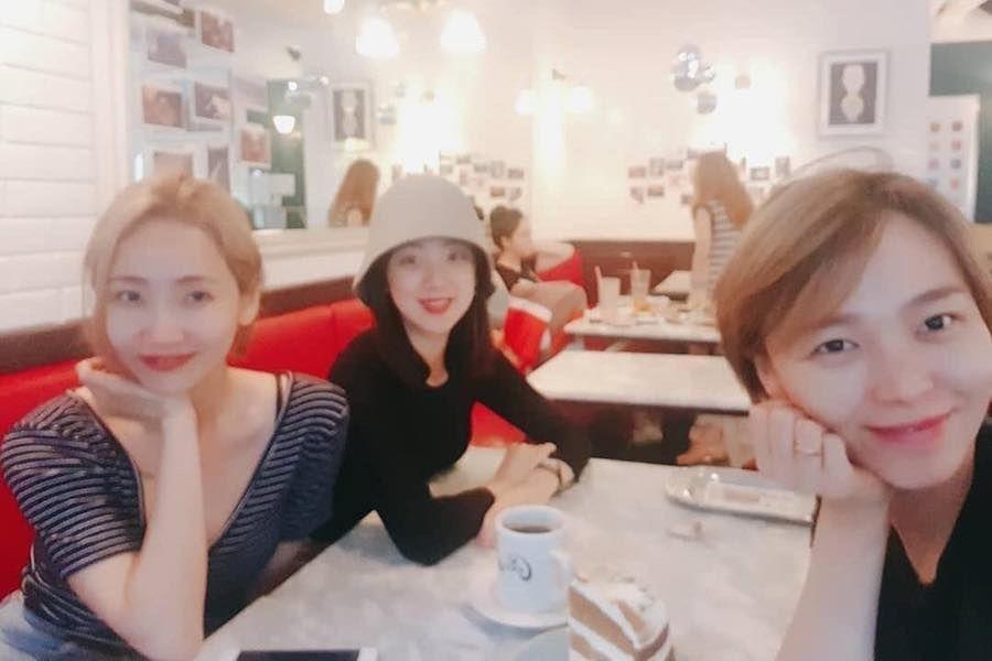Las integrantes de Wonder Girls muestran su eterna amistad en una reunión parcial reciente