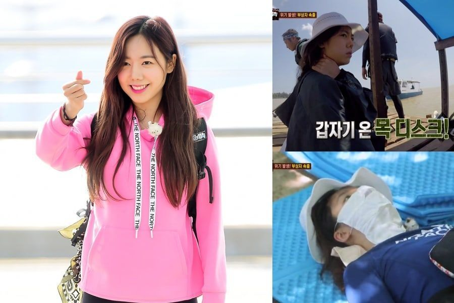 "Namjoo de Apink es llevada al hospital local durante ""Law Of The Jungle"""